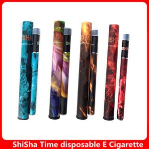 Shisha tempo disponível vape pen kit 30 de várias cores, canetas 500 sopro hookah shisha e cigarro ehookah vaporizador shisha caneta