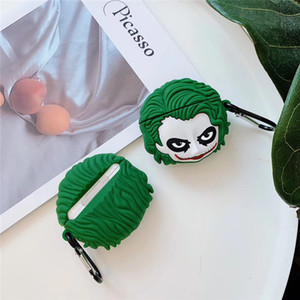 3D Joker Accessories Earphone Cases for Apple Airpods 1st 2nd Generation Silicon Protect Cover for Air Pods 50pcs