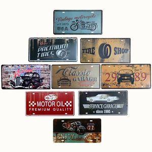 Licencia bar bar cartel decoración retro decorativo del garaje Decoración de la motocicleta 15x30cm Inicio Plates Pared iERfN