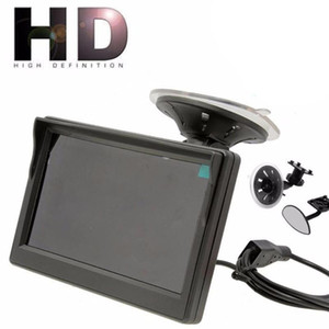 "5 Inch Car Monitor TFT LCD 5"" HD Digital 16:9 800*480 Screen 2 Way Video Input For Reverse Rear View Camera DVD VCD car dvr"