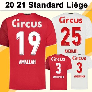 20 21 Standard Liège Maillots Hommes Football Amallah BASTIEN Gavory Accueil Rouge Loin Blanc Football Chemise VANHEUSDEN VANJA Mpoku CIMIROT court Slee