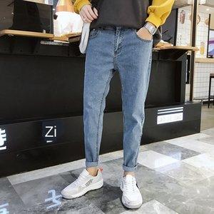 2020 Autumn magro até os tornozelos novo jeans masculina ku coreano casuais de ganga para homem fKK3X calças 9 pontos FEN 9 fen ku estiramento 9 9 calças