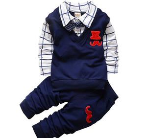 Распродажа BibiCola весна осень Baby Boy Одежда наборы Детская одежда Набор малышей мальчиков хлопок футболки + брюки Спортивный костюм Спортивный костюм Set