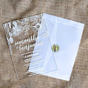 20pcs Acrylic Invitation Wedding Transparent Crystal Invitation Wedding Creative Personal Customization