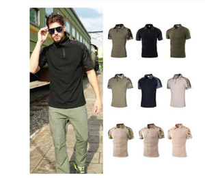 Men's Outdoor Tactical Camouflage T-shirt Breathable US Army Combat T Shirt Quick Dry Camo Hunting Camping Hiking Tees