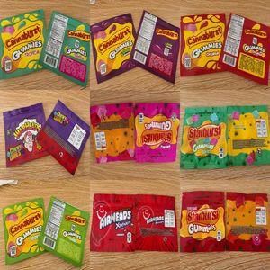 Odeur d'emballage sacs vides Warheads Sacs Mylar bonbons gélifiés Airhea corde Emballage Sac libre Preuve Medicated Dhl Starburst Nerds EKdzp