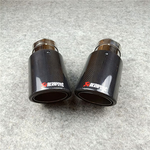 Wholesale Akrapovic Carbon Exhaust Tip Muffler pipe For BMW BENZ AUDI VW Car Accessories Car Exhausts Tips