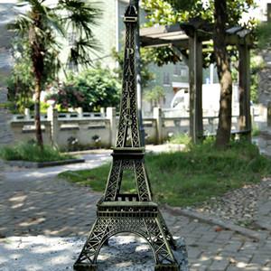Мода Романтической ретро тон бронзы Париж Effiel башня Цифра Статуэтка Модель Главной Bedroom Desktop Decor автомобили