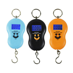 Тыква Shape Scale 50kg 10g Портативный Handy Карманный Precision Hook Кухонные весы Мини Электронные цифровые ЖК-Весы кухонные инструменты GGA3626