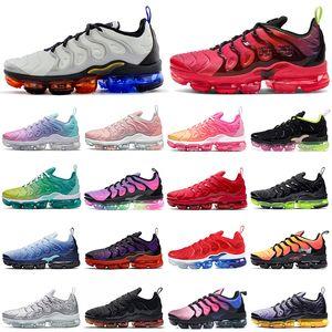 2020 nike air vapormax plus tn vapors vapor max zapatos corrientes en blanco y negro de triple ser verdadmáxTNS para mujer para hombre zapatillas de deporte de los formadores