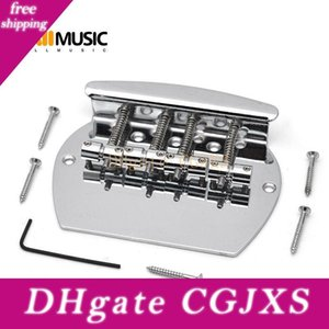Bass Bridge Schwer 4 String Curved Bassgitarre Brücke für E-Bass Chrome