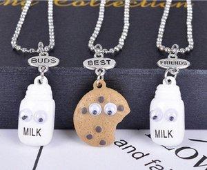 Hot INS Halsketten für Frauen Girls Best Friend Fashion Jewelry Stereoplätzchen Milk Best Buds Ketten NHSP #