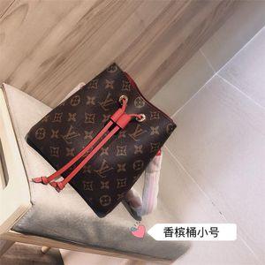 LV de lujoLOUISVUITTONcadena de lujo NEONOE cucharón mujeres del monedero del cuero genuino con la cadena bandolera bolsa NEONOE cubo