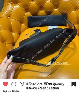 Correa de las mujeres de la moda bolsa luxurys diseñadores bolsas de hombro Marca cintura empaqueta 569737 En Grain De Poudre en relieve 100% cuero auténtico Forro de lona