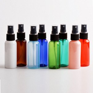 موضة جديدة 50ML السفر البلاستيك المحمولة الصغيرة رذاذ زجاجة الكحول لمستحضرات التجميل الفرعية زجاجة شفافة PET رذاذ الماء الساخن زجاجة سال LILY #