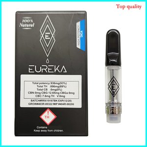 Packaging Eureka cartridges Ceramic Coil 0.8ml No Leakage Atomizer dank vapes carts vape pen moon rock