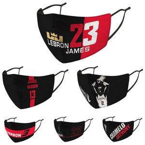 Дизайнер маска для лица против пыли против стойкого Рта-муфельной Мужчины Женщины лица Маски Престижного баскетбол печати Марки Protector моющегося Face Mask