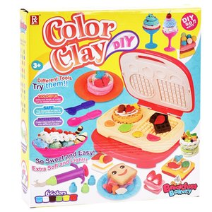 Kid fun simulation pancake machine Cute Breakfast machine toy Fun playdough toy Colorful clay snack maker Fun food play house toy