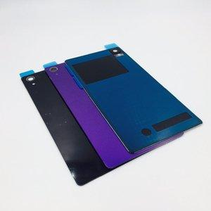 cgjxs 10pcs / lot per Sony Xperia Z2 D6543 L50W D6503 copertura di batteria di vetro posteriore Back Door Housing Vetro