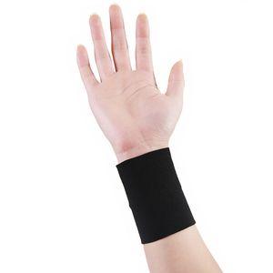 2ST Compression Handgelenk Stützhülse elastische Sportarmband Bandage Gym Hand Klammer wrap Tennis Band Fitness Schwarz / Skin XXL