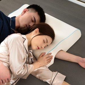 YRHCD New Style Paar Kissen Langsame Erholung Speicher Druck Anti-Hand Paralysis Duet Schutz Cervical LJ200821