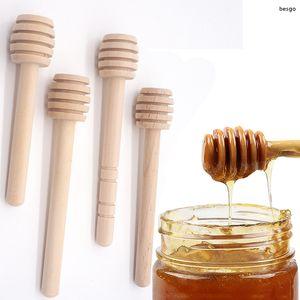 8cm 10cm Wood Honey Stirrer Coffee Juice Mixing Stir Stick Honey Long Stick Tea Tools Eco-friendly Milk Stir Bar Honey Dippers TQQ BH3231