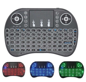 i8 Mini 2.4G Wireless Keyboard 8 keyboard backlit English Russian Spanish Air Mouse 2.4GHz Wireless Touchpad for TV Box