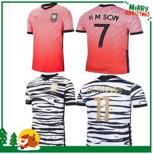 2020 2021 كوريا الجنوبية لكرة القدم جيرسي H M SON H C HWANG قميص رجالي I B HWANG 20 21 كوريا الجنوبية على أرضه خارج أرضه الموحدة لكرة القدم