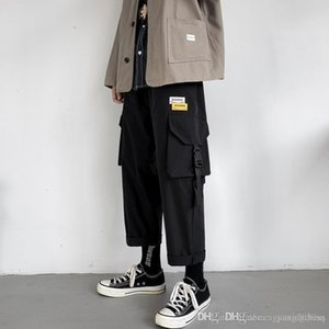 Autumn ins tide machine wind nine division of labor pants Mens Unisex Korean version of straight-barrel youth hundred broad-legged pants