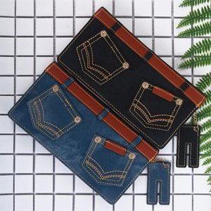 Women Jeans Style Zip Wallet Designer Brand Purse Lady Party Wallet Female Card Holder Large Capacity Clutch Bag