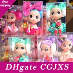 Creativo Kawaii bambole Confused 10cm Action Figures di plastica colorata bambola Giocattoli Carino Gonna principessa bambini giocattoli