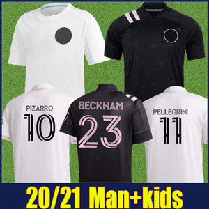 2020 2021 Inter Miami Fußball-Trikots PIZARRO BECKHAM Uniform PELLEGRINI TRAPP 20/21 INTER MIAMI CF Home Away Erwachsene Kinder-Jugend-Fußball-Hemd