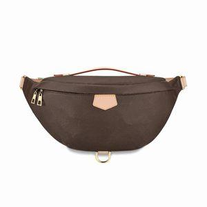 Top Quality Moda PU Couro Brown Flor Handbags Mulheres Sacos Designer Fanny Packs Famosos Sacos de Cintura Bolsa Bolsa de Senhora Bag Paul Wallet