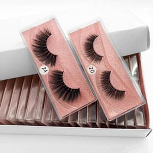 10styles all'ingrosso 3D visone ciglia naturale cigli falsi molli compongono Lashes estensione trucco Falsa Eye Lashes Series 3D