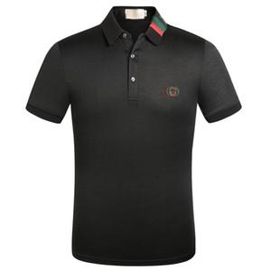 Neue Designer Polo Shirt Herren Polo Casual Herren Damen Luxus Polo T-Shirt Biene Drucken Stickerei Mode Baumwolle Schwarz-Weiß-Männer-Polos