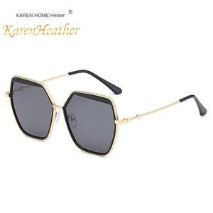 Nuevo sol de la manera gafas de sol personalizadas 6299 Ocean Film de moda gafas de sol grandes del marco de las mujeres