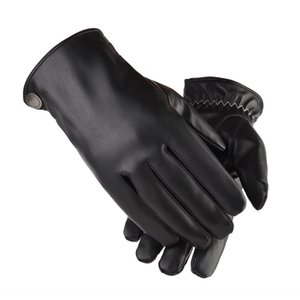 z0w6c Warm winter outdoor driving electric car velvet thickened windproof waterproof touch screen PU leather Warm gloves electrombile gloves
