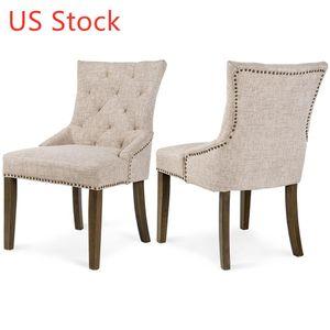 الولايات المتحدة الأسهم 2 قطعة مبطن كراسي الطعام توني المطاط الخشب كرسي بريج العشاء غرفة الترفيه كرسي التسليم في غضون 3-5 أيام