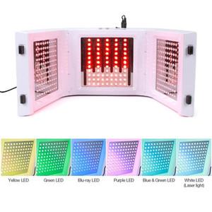 Más nuevo 7 Color LED PDT Luz de cuidado de la piel Máquina de belleza SPA faciales Terapia de la PDT Rejuvenecimiento de la piel Acné Retire el antiarrugas