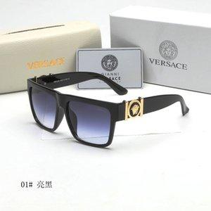 Kadınlar Erkekler Moda Aksesuar Yüksek Kalite Damga UV400 Full Frame medusa güneş gözlüğü ile lüks Desinger Kare Güneş