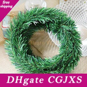 Горячий продавать 5 .5meter Diy Garland Christmas Decor Камин Xmas Tree Сосна Листья Венки Rattan LBV