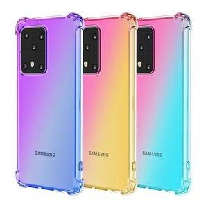 Shockproof Air-TPU für Samsung S10 M10 20 30 Hinweis 8 9 10 Steigung-Farben-rückseitige Abdeckung Weiche transparente Hüllen mit OPP