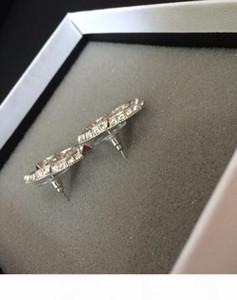clásico de la moda pendientes de cristal de alta versión para dama Stud pendientes joyería desinger de las mujeres de Novia en la bolsa de franela Novia Con
