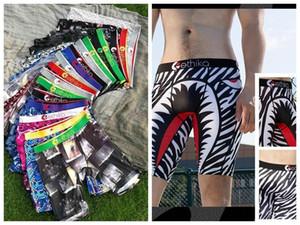 Случайный цвет Ethika мужской Boxer шорты Sexy Трусы Молодые мягкие удобные Упругие известный пляж брюки быстрой сушки белья для мужчин 115C #