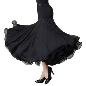 Сцена носить пухлый стиль бальный танец юбка длинный вальс платье танго практика танцующая одежда вечерняя вечеринка черный