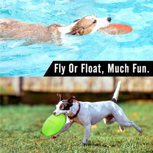 Flying Flying Jouet Discs Jeux Chip Chew Silicone Chiot Saucer 1PCS Funny Résistant Dog Dog Training Fournitures de chat interactif GDTLB