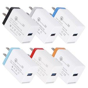 CgjxsPortable QC3 0.0 USB de alta velocidad de un solo puerto cargador de pared Adaptador Eu americana para Samsung Iphone diseño creativo de alta calidad