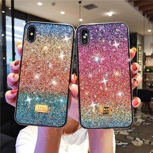 Gradient Glitter Premium Rhinestone Case Luxury Women Defender Phone Case For iPhone 11 Pro Max Xr Xs Max 6 7 8 Plus Cover