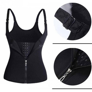 Women Zipper Body Shaper Vest Slim Waist Training Cincher Shirt Corset Shapewear Slimming Belt home clothing