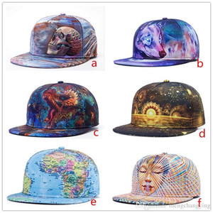 HOT STYLE 3D Printing Cap Buddha Pattern Sports Hat Baseball Cap Women Men Baseball Caps Fitted Snap Backs Caps Fashion Hip Hop Caps 6 Style